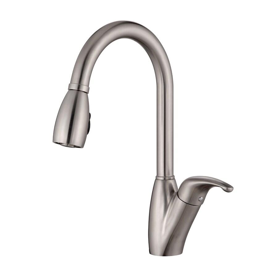 shop kraus stainless steel 1 handle pull kitchen
