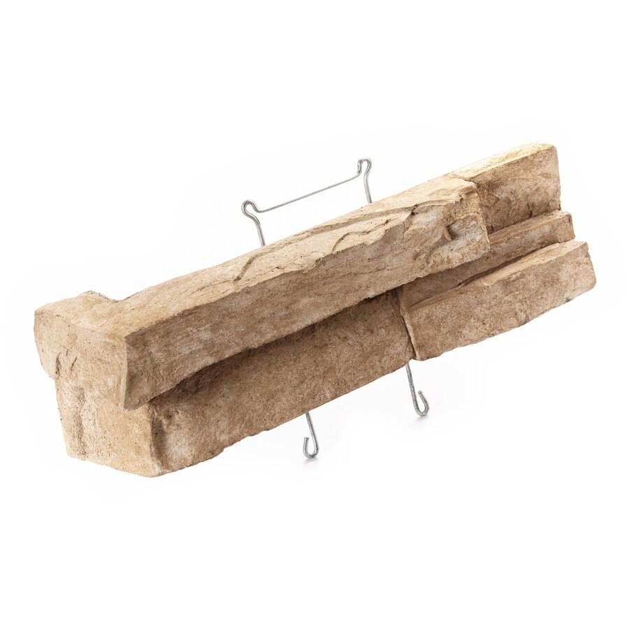 ClipStone Prostack 18-Pack 8-in x 4-in Tan Molded Corner Stone Veneer Trim
