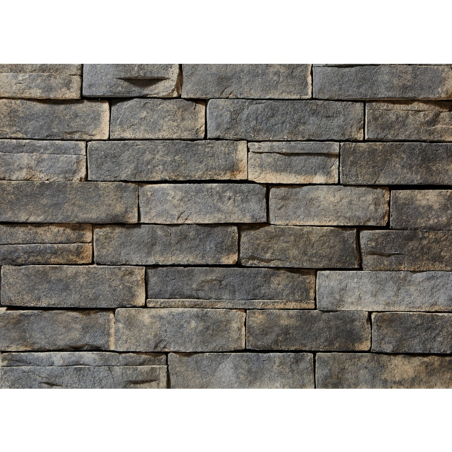 ClipStone Ledgestone 8-sq ft Ash Faux Stone Veneer