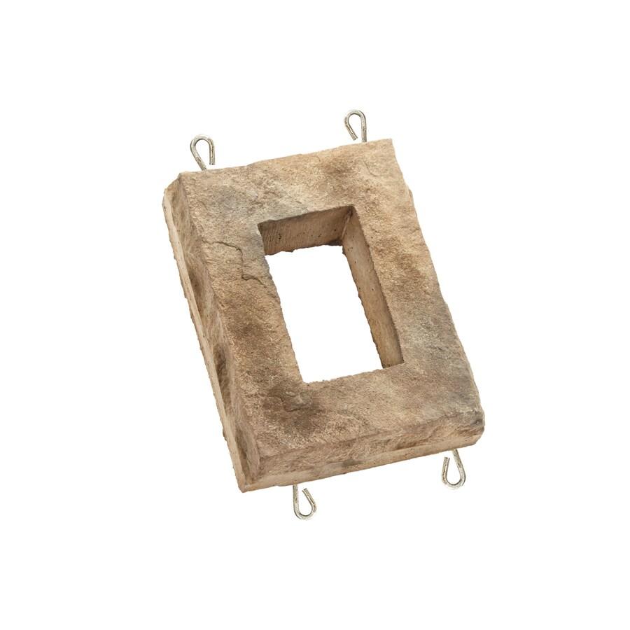 ClipStone 6-in x 8-in Cream Receptacle Boxes Stone Veneer Trim