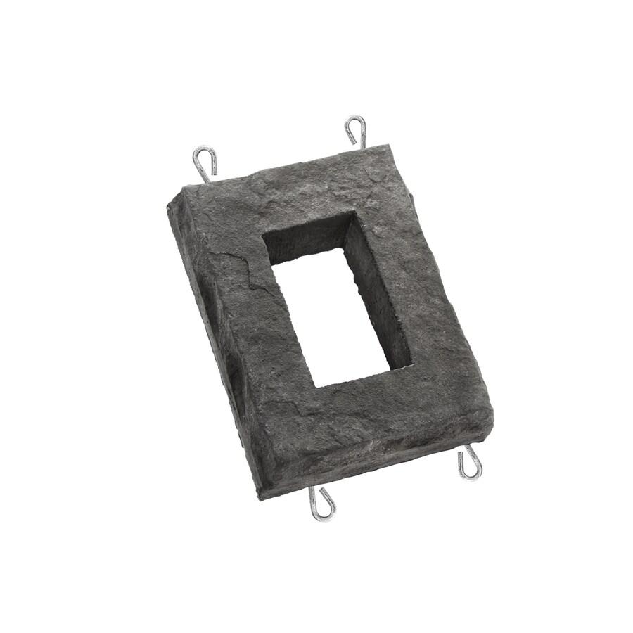 ClipStone 6-in x 8-in Smoke Receptacle Boxes Stone Veneer Trim