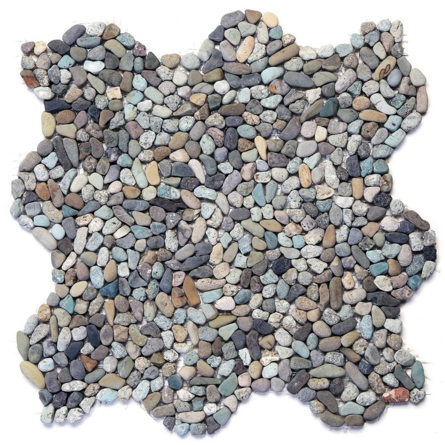 Solistone Micro Pebbles 10-Pack Cayman Blue Pebble Mosaic Floor and Wall Tile (Common: 12-in x 12-in; Actual: 12-in x 12-in)