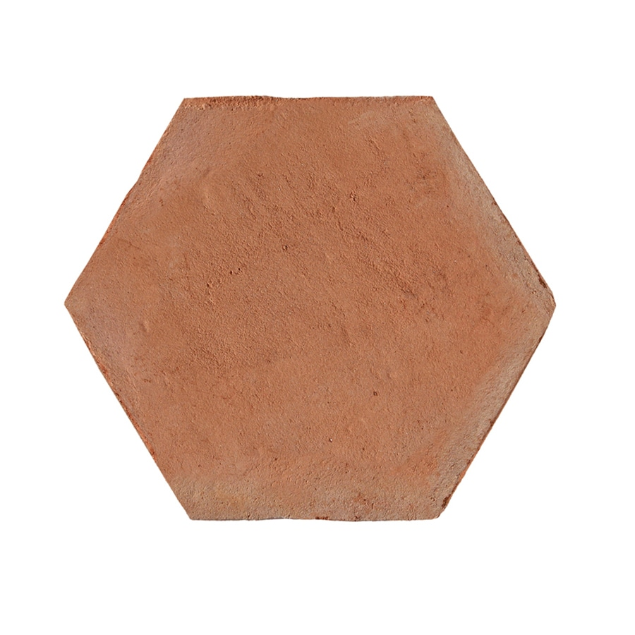 Shop solistone handmade terra cotta 5 pack hexagano for Ceramic flooring