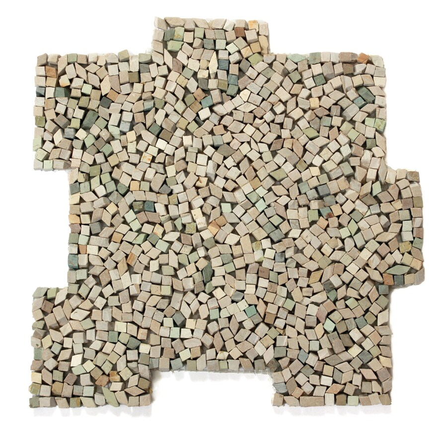 Solistone Palazzo Pebbles 10-Pack Fortuna Pebble Mosaic Floor and Wall Tile (Common: 12-in x 12-in; Actual: 12-in x 12-in)
