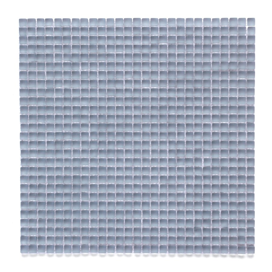 Solistone Atlantis Glass 10-Pack Damsel Frosted Uniform Squares Mosaic Glass Wall Tile (Common: 12-in x 12-in; Actual: 11.75-in x 11.75-in)