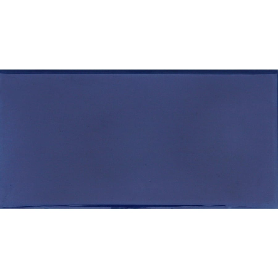 Solistone Hand-Painted Ceramic 10-Pack Azul Ceramic Wall Tile (Common: 3-in x 6-in; Actual: 3-in x 6-in)