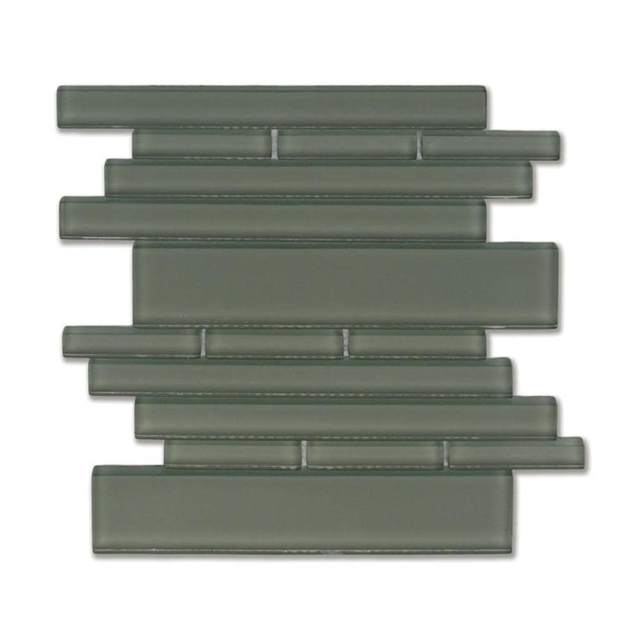 Solistone Piano Glass 10-Pack Opus Linear Mosaic Glass Wall Tile (Common: 9-in x 10-in; Actual: 9.5-in x 10.5-in)