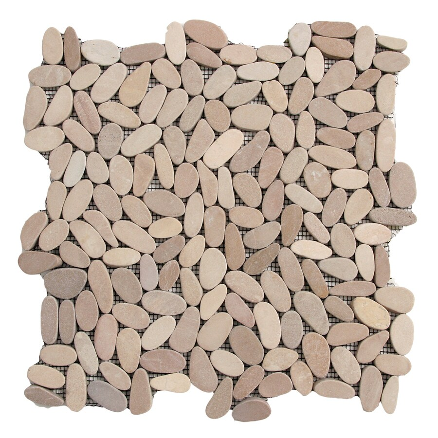 Solistone Kuala Pebbles 10-Pack Madura Sands Pebble Mosaic Floor and Wall Tile (Common: 12-in x 12-in; Actual: 12-in x 12-in)