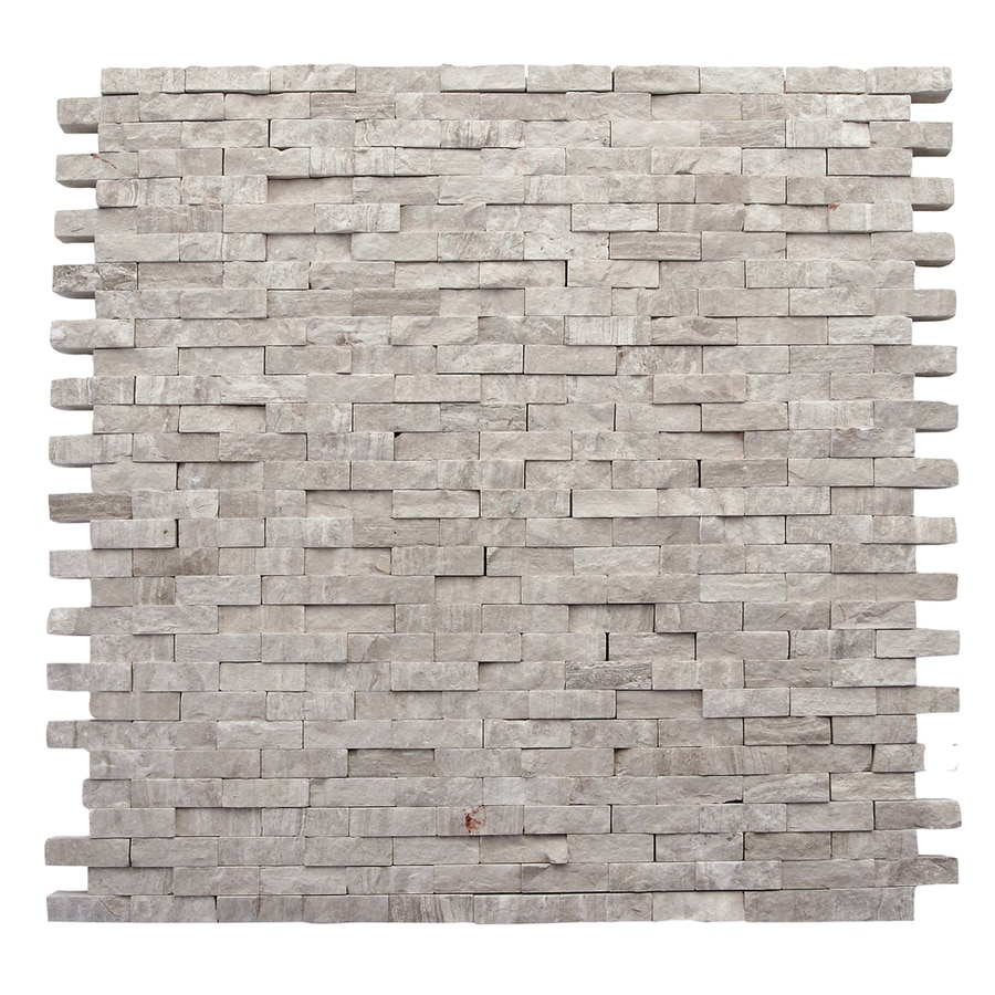 Solistone Haisa Marble 10-Pack Haisa Light Subway Mosaic Marble Wall Tile (Common: 12-in x 12-in; Actual: 12-in x 12-in)