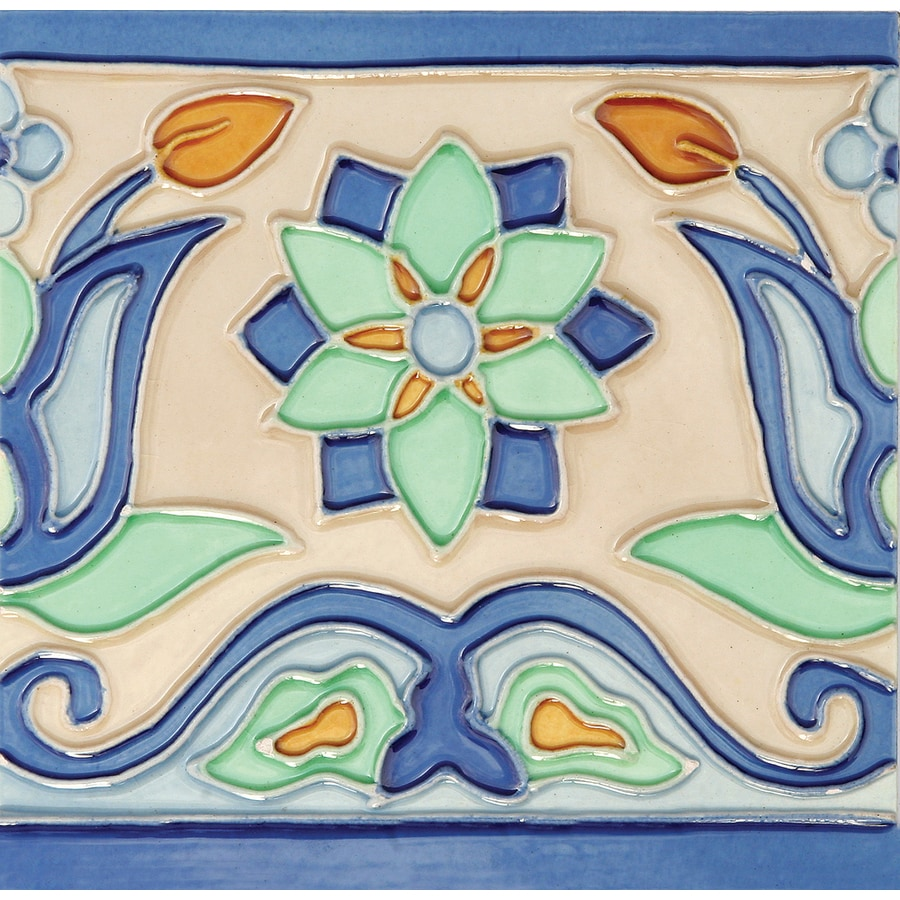 Solistone Hand-Painted Ceramic 10-Pack Tulips Ceramic Wall Tile (Common: 6-in x 6-in; Actual: 6-in x 6-in)