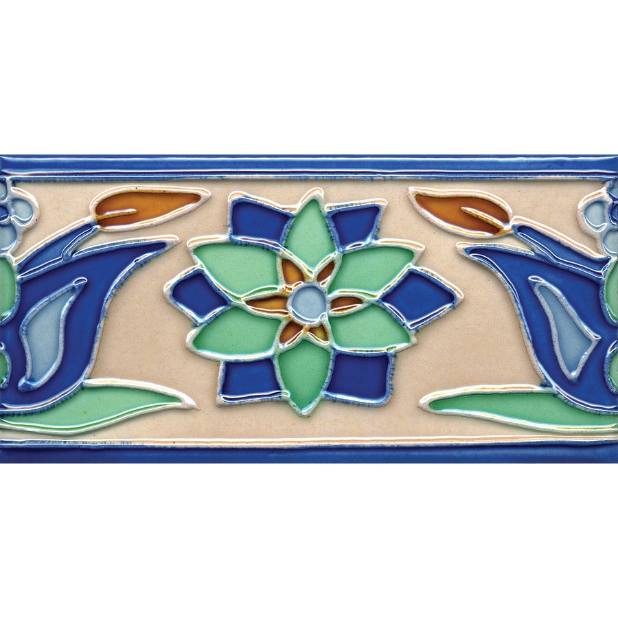 Solistone Hand-Painted Ceramic 10-Pack Tulips Ceramic Wall Tile (Common: 3-in x 6-in; Actual: 3-in x 6-in)
