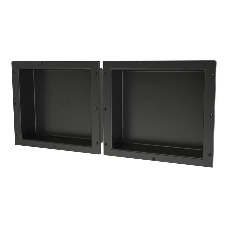 Redi Niche Tile Redi Black Shower Wall Shelf
