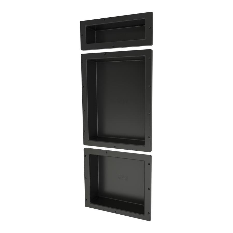 Shop Redi Niche Tile Redi Black Shower Wall Shelf At Lowes Com