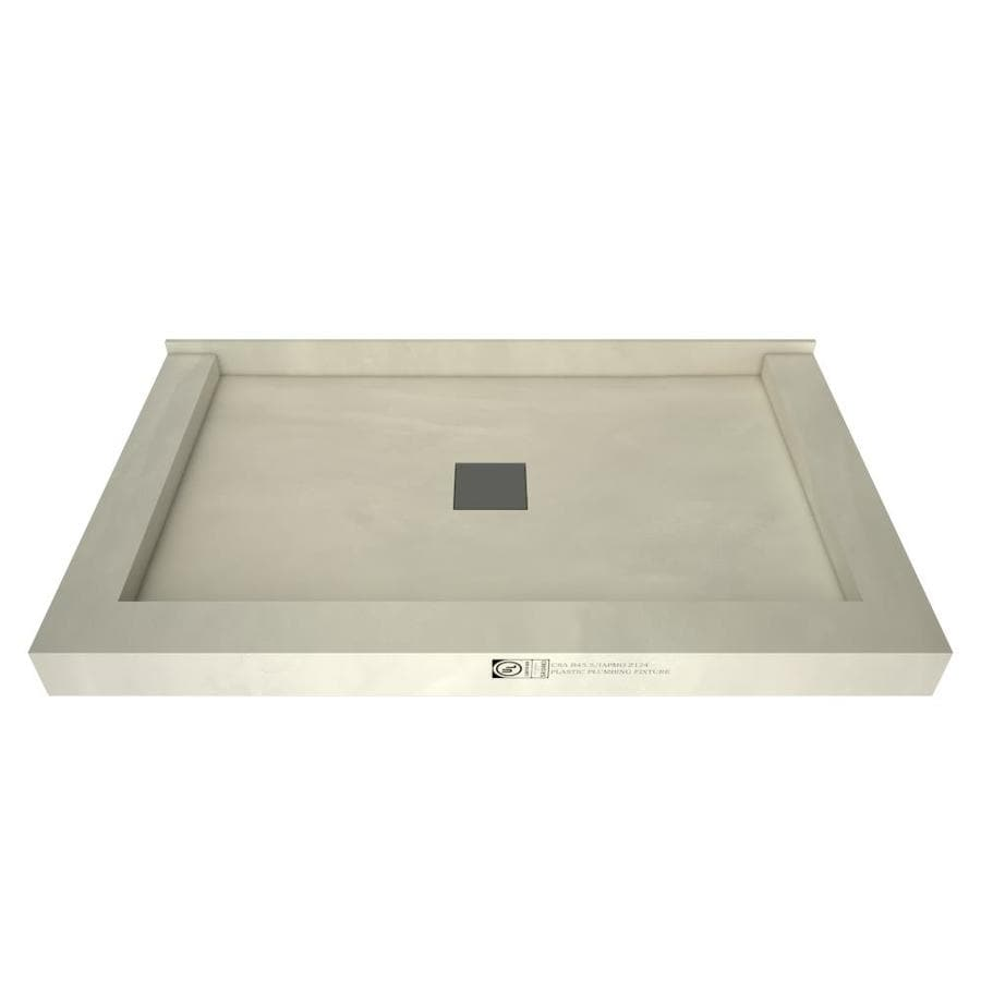 Wonder Drain Made for Tile Molded Polyurethane Shower Base (Common: 37-in W x 60-in L; Actual: 37-in W x 60-in L)