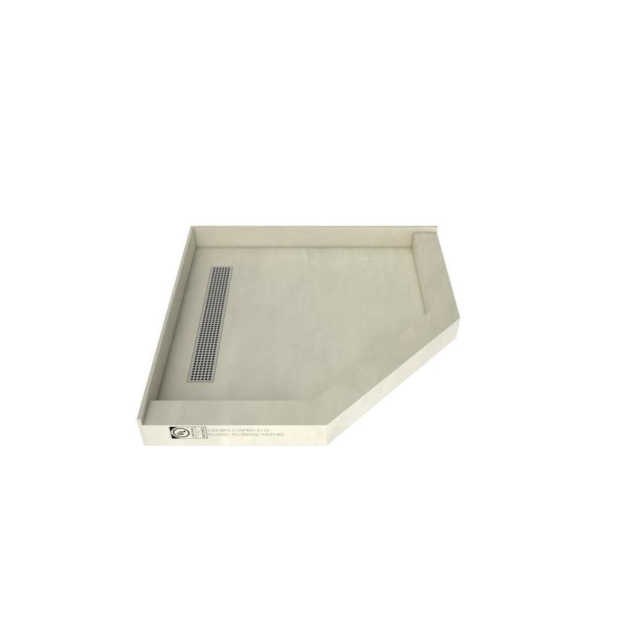 Redi Neo Made for Tile Molded Polyurethane Shower Base (Common: 44-in W x 44-in L; Actual: 44-in W x 44-in L)
