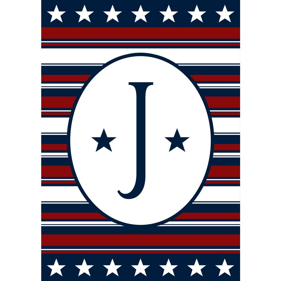 2.33-ft W x 3.33-ft H Monogram House Flag