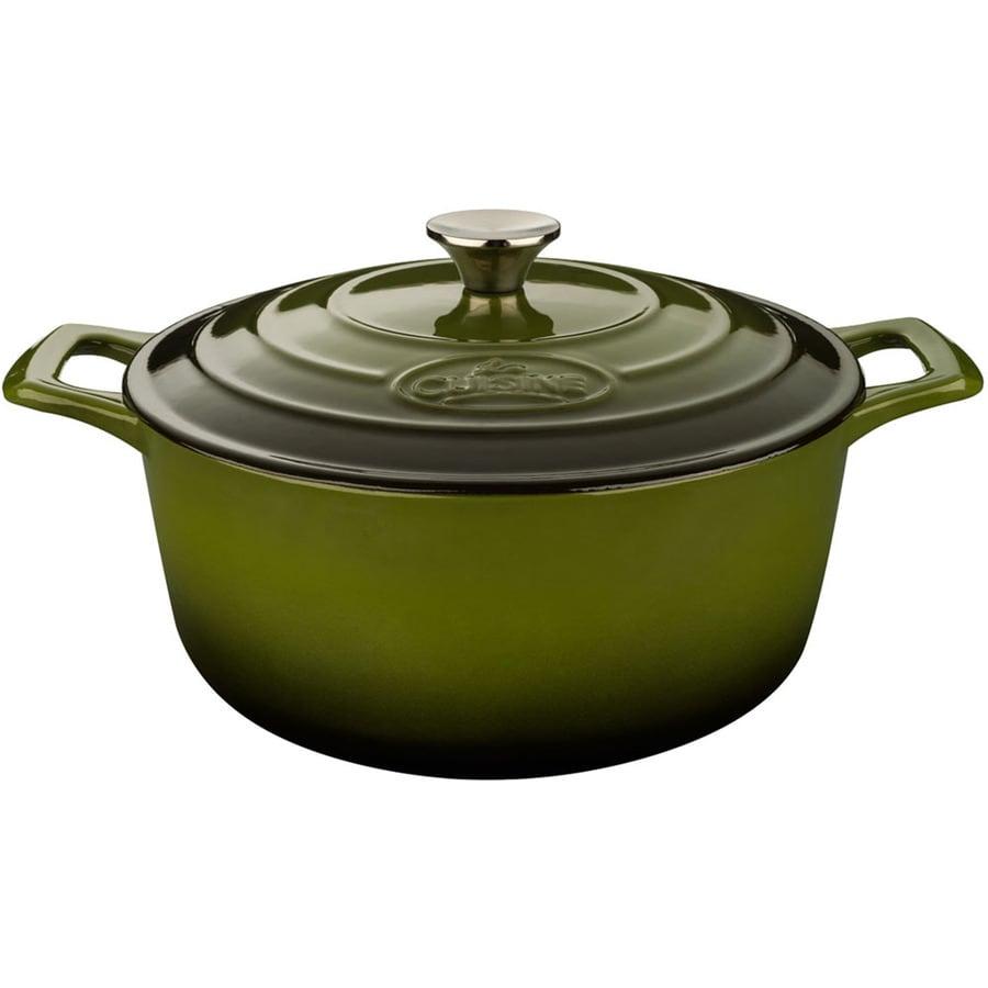La Cuisine 2.2-Quart Cast Iron Dutch Oven with Lid