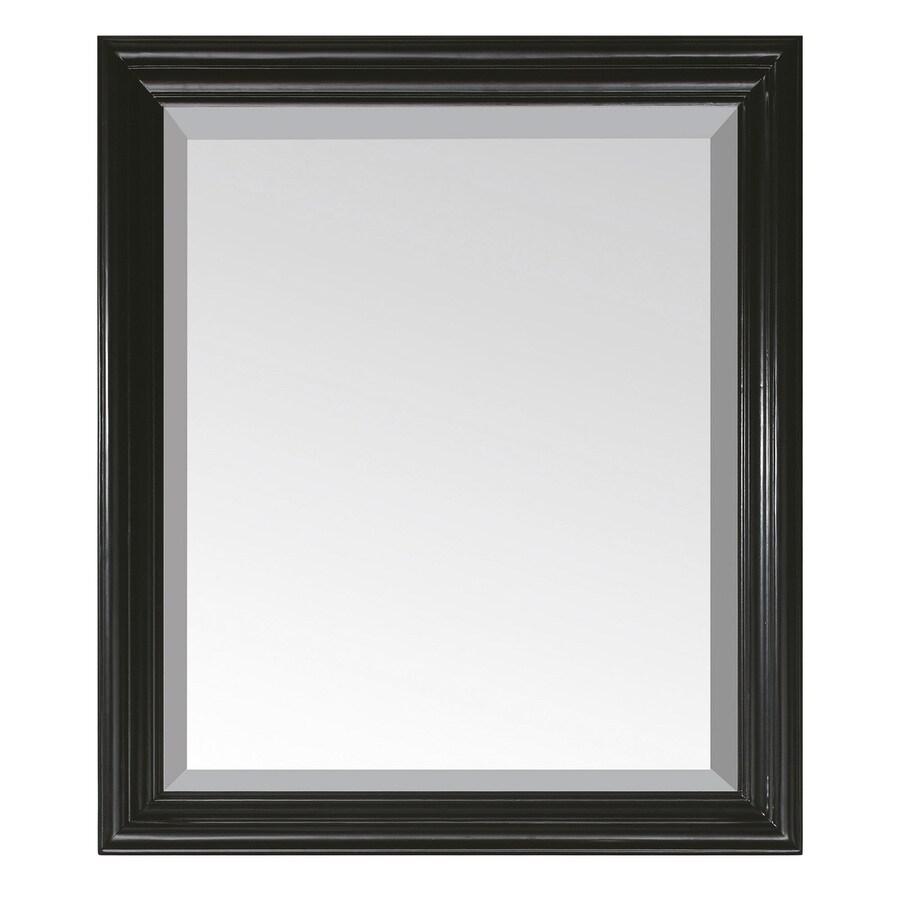 Avanity Milano 30-in W x 26-in H Black Rectangular Bathroom Mirror