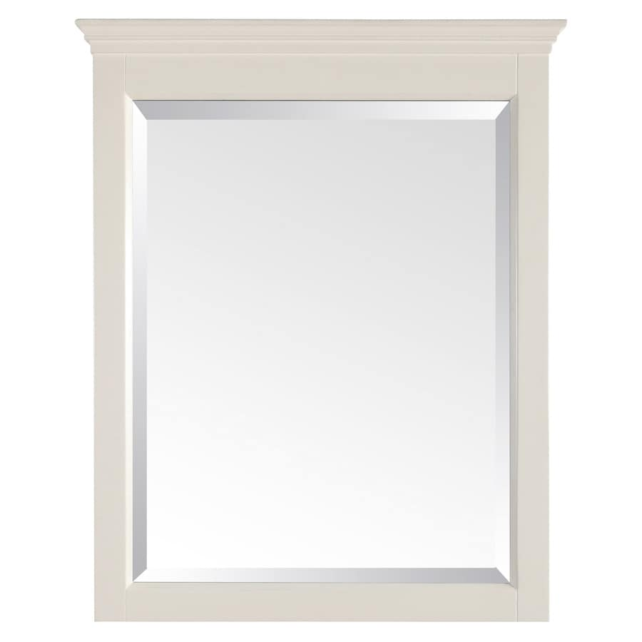 Avanity 32-in H x 24-in W Tropica Antique White Rectangular Bathroom Mirror