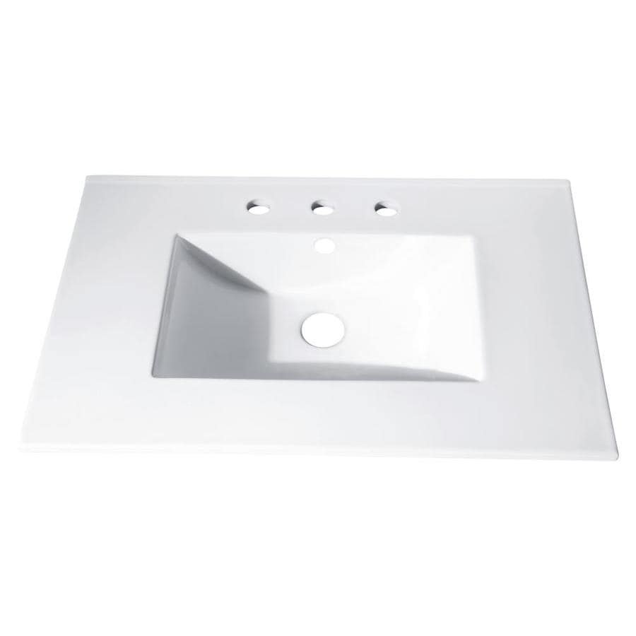 Avanity Loft White Vitreous China Integral Bathroom Vanity Top (Common: 37-in x 22-in; Actual: 37-in x 22-in)