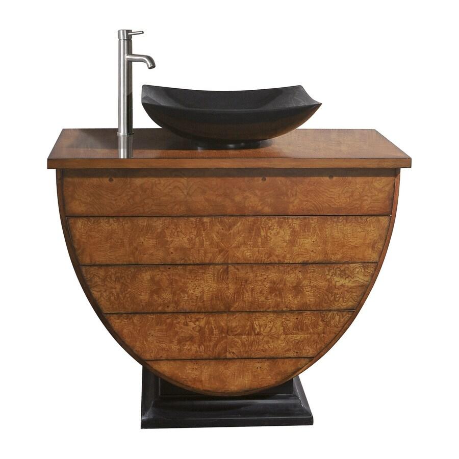 Avanity Legacy Golden Burl Casual Bathroom Vanity (Common: 40-in x 19-in; Actual: 40-in x 19-in)