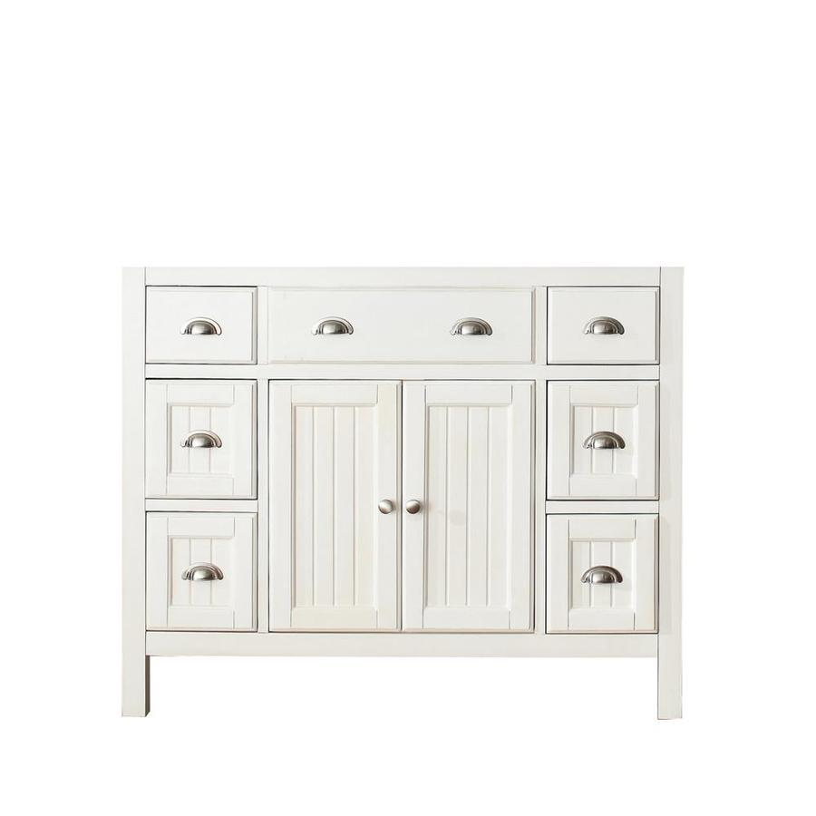 Avanity Hamilton French White Traditional Bathroom Vanity (Common: 42-in x 22-in; Actual: 42-in x 21.5-in)
