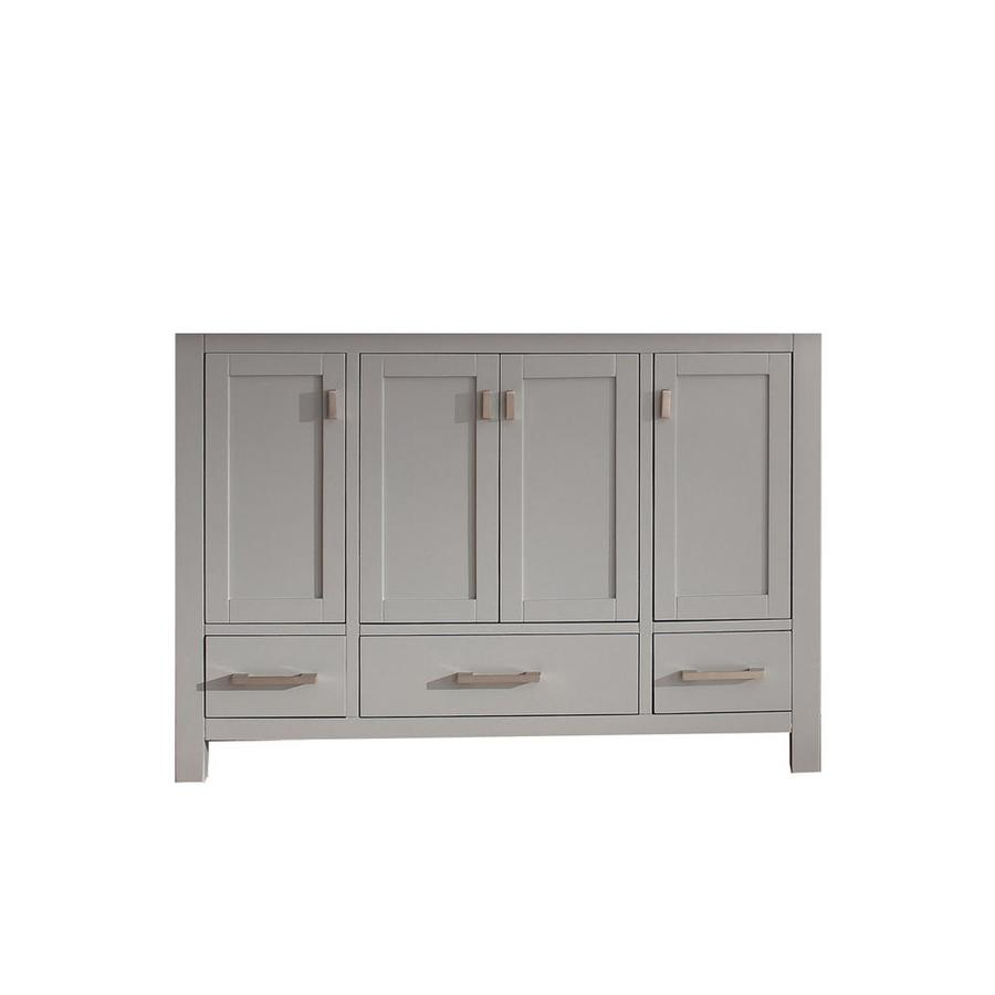 Shop avanity modero chilled gray traditional bathroom - 48 inch bathroom vanity without top ...