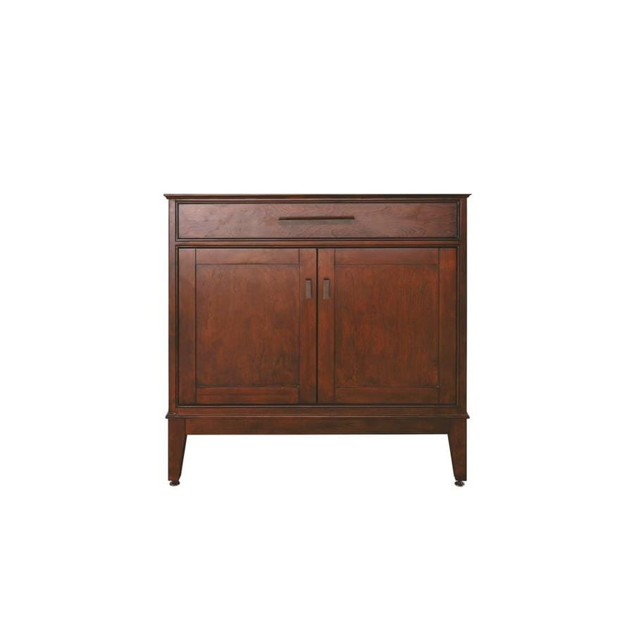 Avanity Madison Tobacco Transitional Bathroom Vanity (Common: 36-in x 21-in; Actual: 36-in x 21-in)