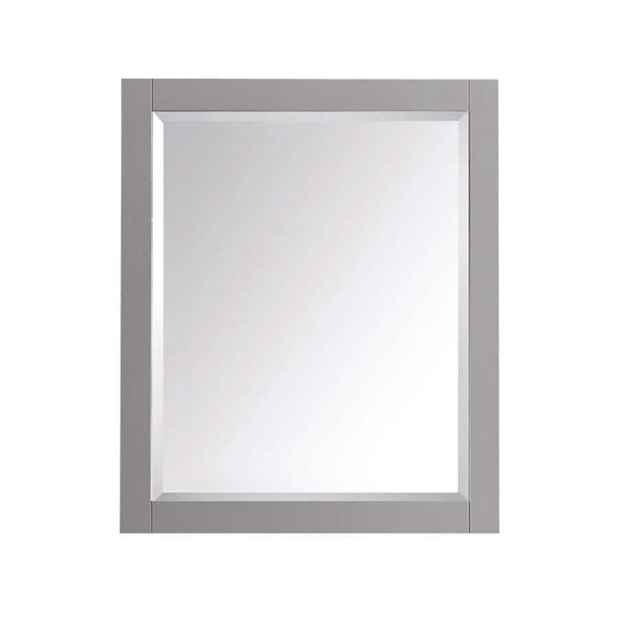 Avanity Brooks/Modero/Tribeca 28-in W x 32-in H Chilled Gray Rectangular Bathroom Mirror