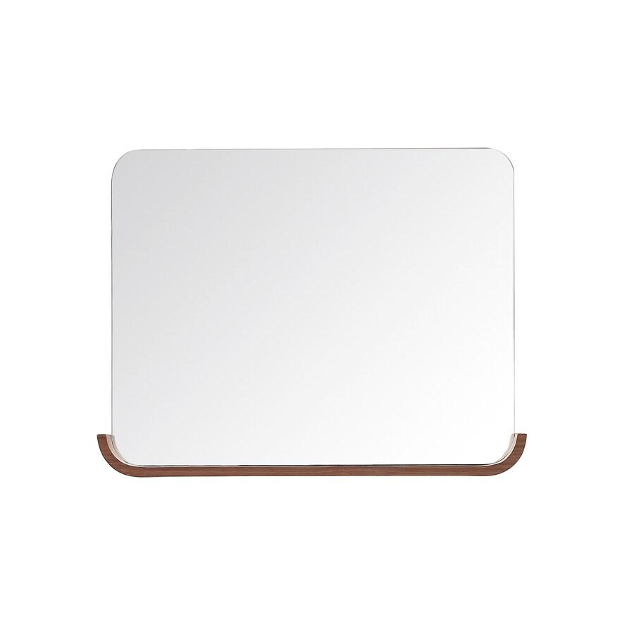 Avanity Siena 4.9-in W x 26.3-in H Chestnut Rectangular Bathroom Mirror