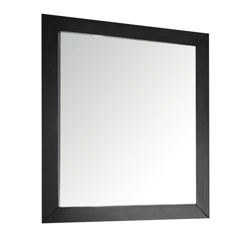 Avanity 33-1/2-in H x 30-in W Venisia Black Rectangular Bathroom Mirror