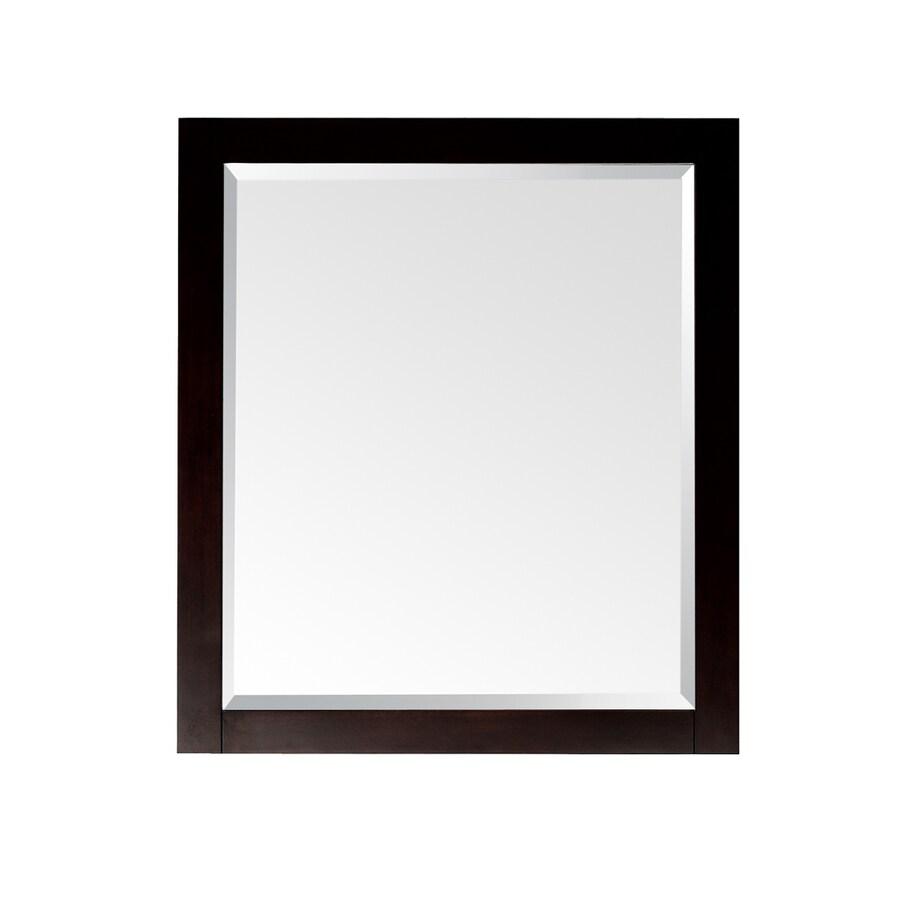 Avanity Lexington 24-in W x 32-in H Light Espresso Rectangular Bathroom Mirror