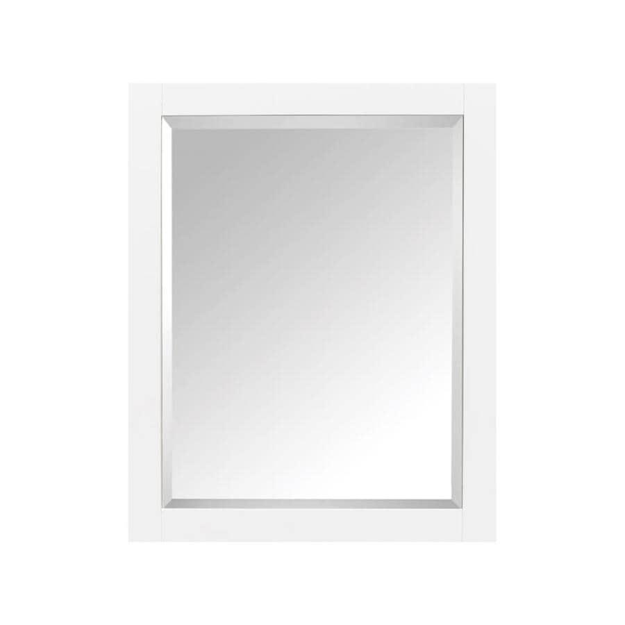 Avanity Modero 28-in x 36-in Rectangle Surface Poplar Mirrored Wood Medicine Cabinet
