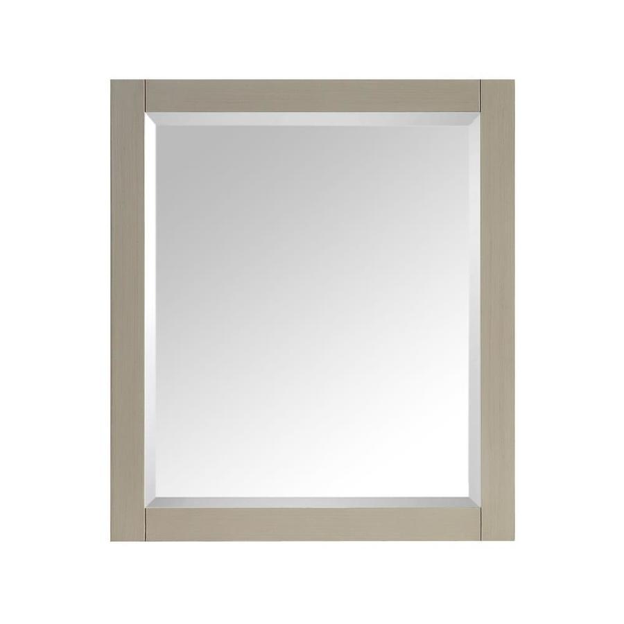 Avanity 28-in W x 32-in H Taupe Glaze Rectangular Bathroom Mirror