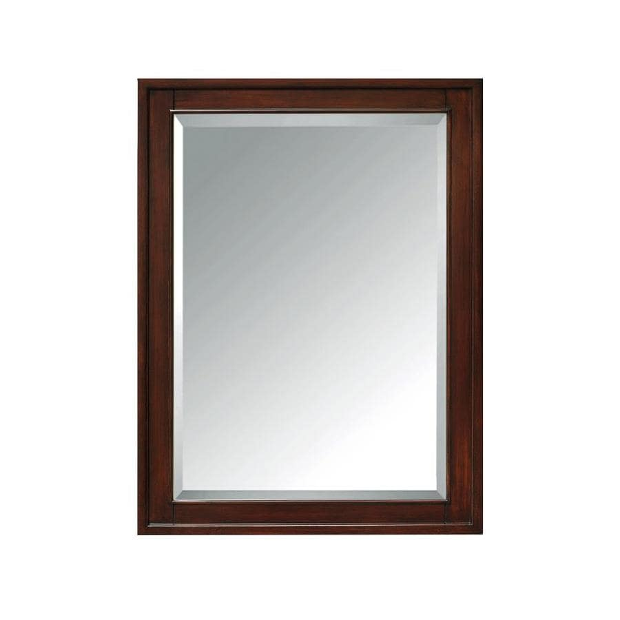 Shop Avanity 24 In X 32 In Rectangle Surface Mirrored Wood