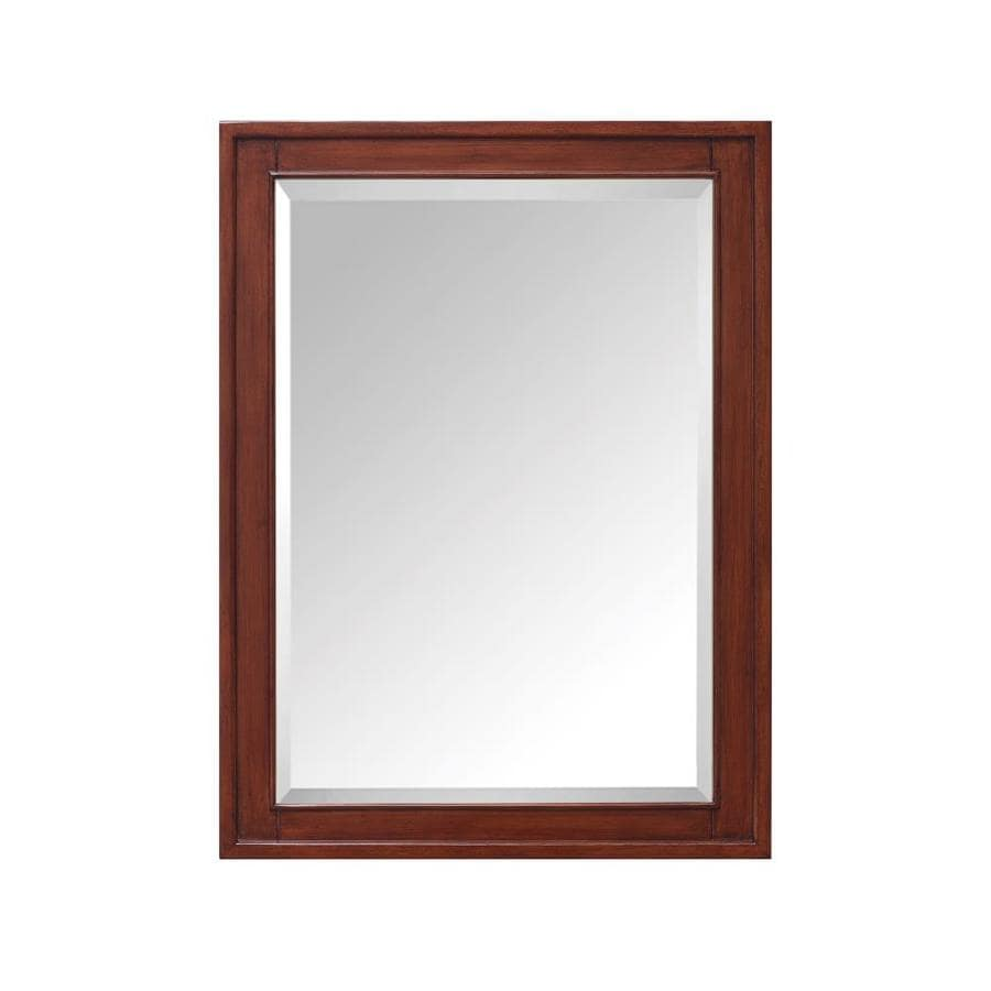 32 in rectangle surface mirrored wood medicine cabinet at