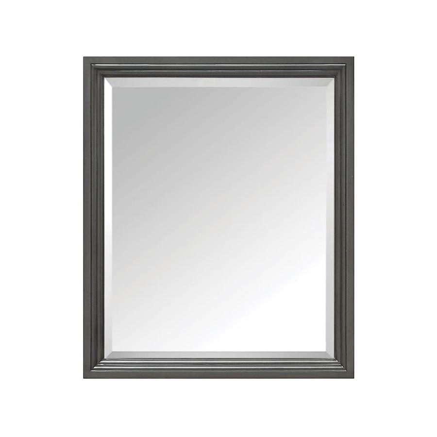 Avanity 28-in W x 33-in H Charcoal Glaze Rectangular Bathroom Mirror