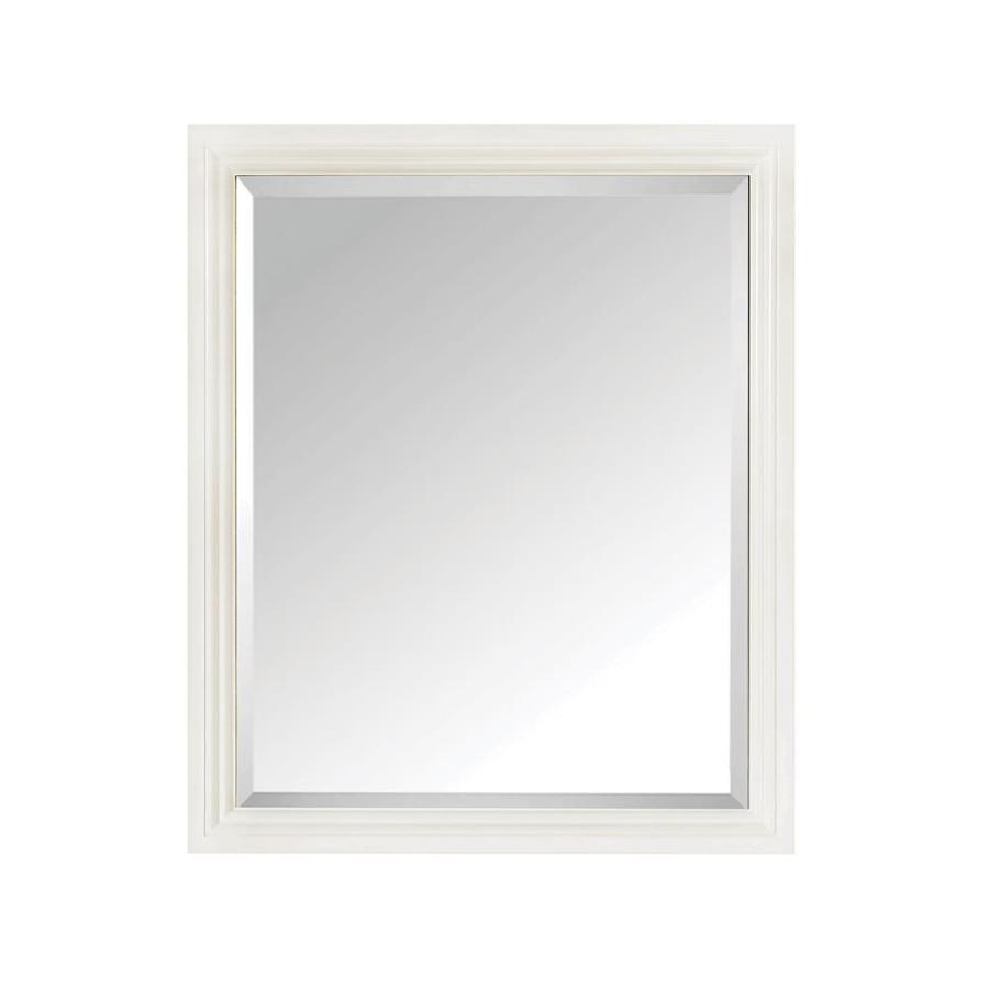 Avanity 28-in W x 33-in H White Rectangular Bathroom Mirror