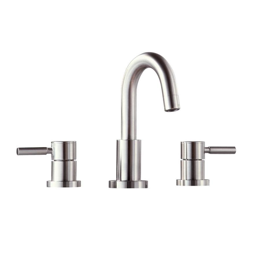 Shop avanity brushed nickel 2 handle watersense commercial for Bathroom 8 inch spread faucets