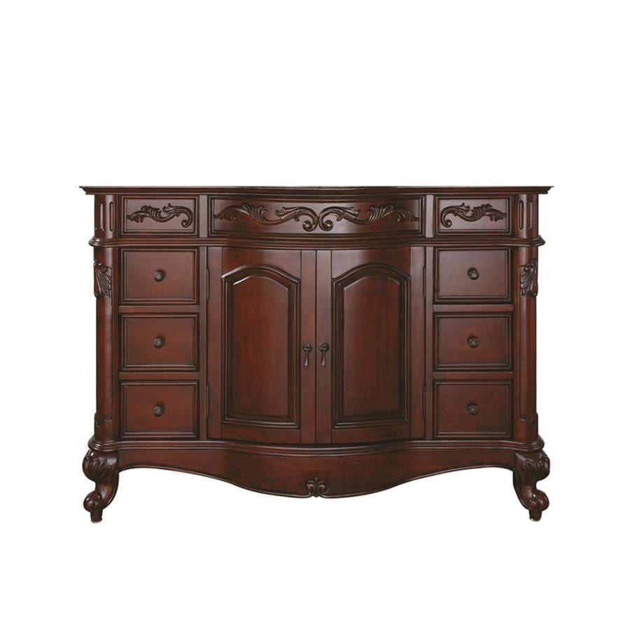 Avanity Provence Antique Cherry Traditional Bathroom Vanity (Common: 48-in x 21-in; Actual: 48-in x 21.5-in)