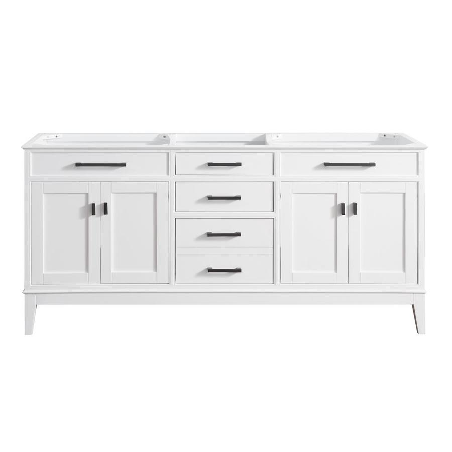 Avanity Madison White Transitional Bathroom Vanity (Common: 72-in x 21-in; Actual: 72-in x 21-in)