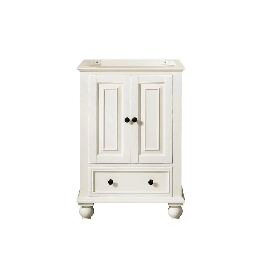 Avanity Thompson French White Traditional Bathroom Vanity (Common: 24-in x 21-in; Actual: 24-in x 21-in)