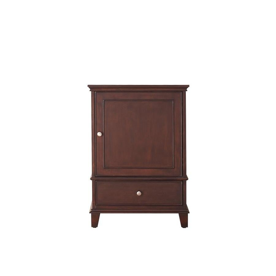 Shop Avanity Windsor Walnut Transitional Bathroom Vanity (Common: 24-in X 21-in; Actual: 24-in X
