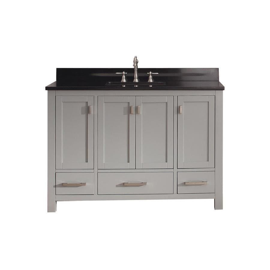 Avanity Modero Chilled Gray Undermount Single Sink Poplar Bathroom Vanity with Granite Top (Common: 49-in x 22-in; Actual: 49-in x 22-in)