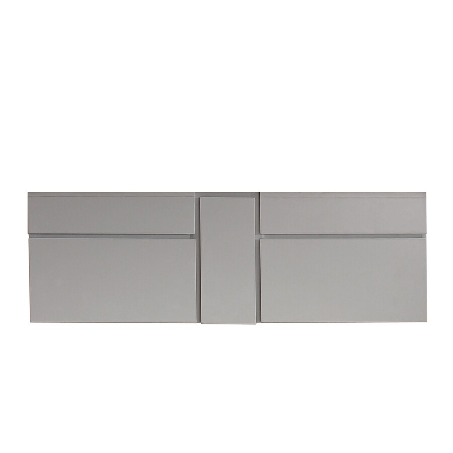 Avanity Tribeca Chilled Gray Contemporary Bathroom Vanity (Common: 60-in x 22-in; Actual: 60-in x 21.5-in)