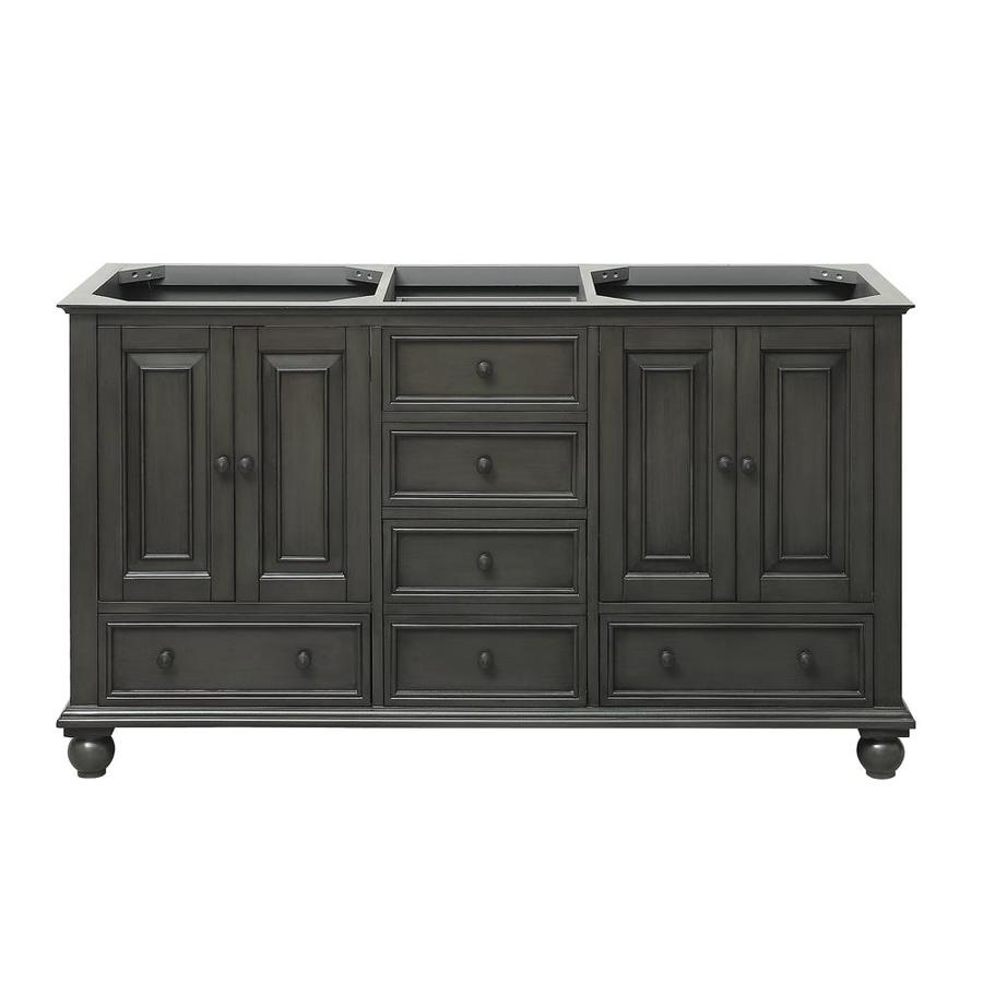 Shop Avanity Thompson Charcoal Glaze Traditional Bathroom Vanity Common 60 In X 21 In Actual