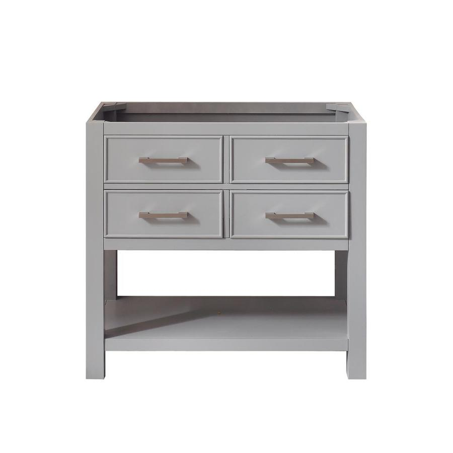 Shop Avanity Brooks Chilled Gray Traditional Bathroom Vanity (Common: 36-in X 21-in; Actual: 36
