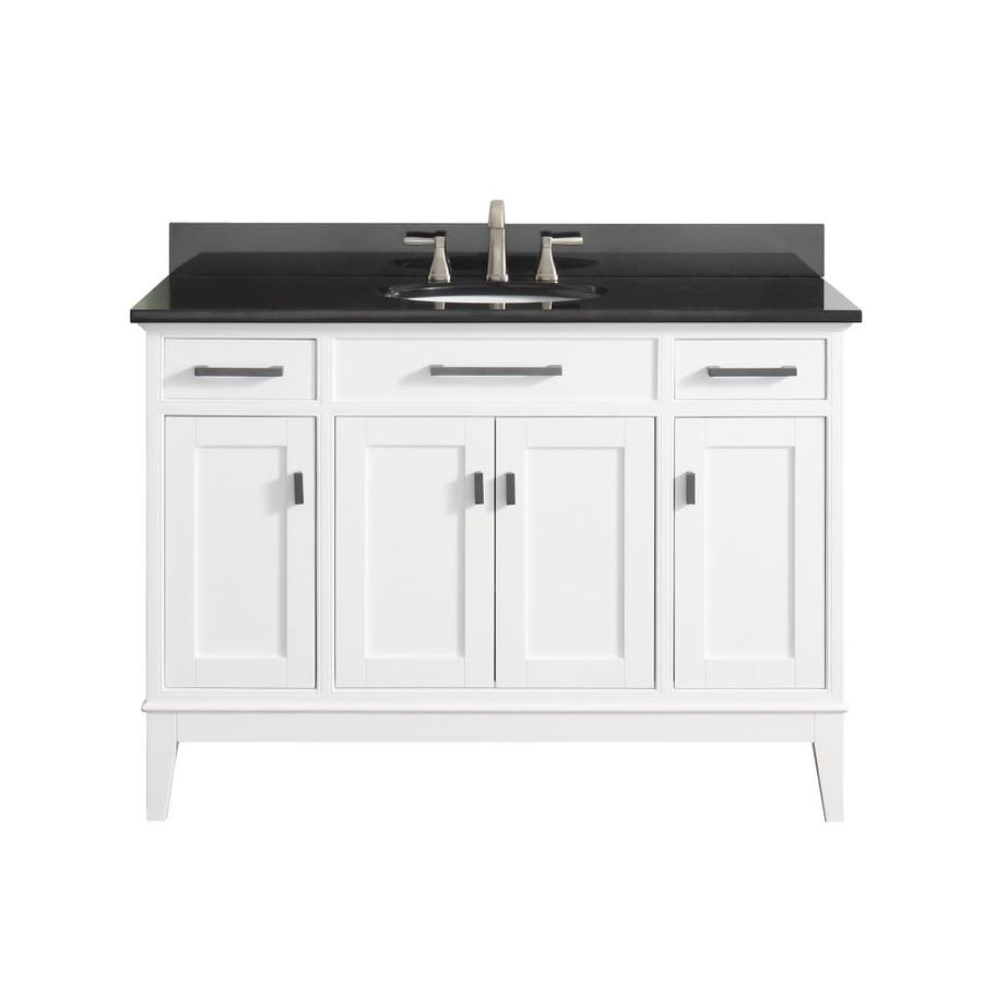 Shop Avanity Madison White Undermount Single Sink Birch