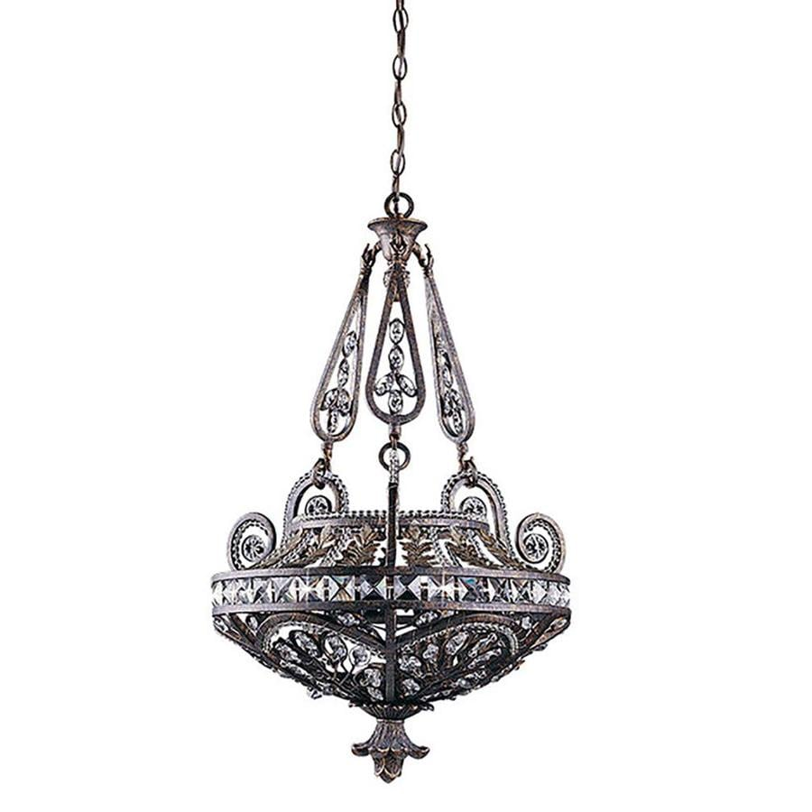 Orcus 22-in Bronze Single Crystal Pendant