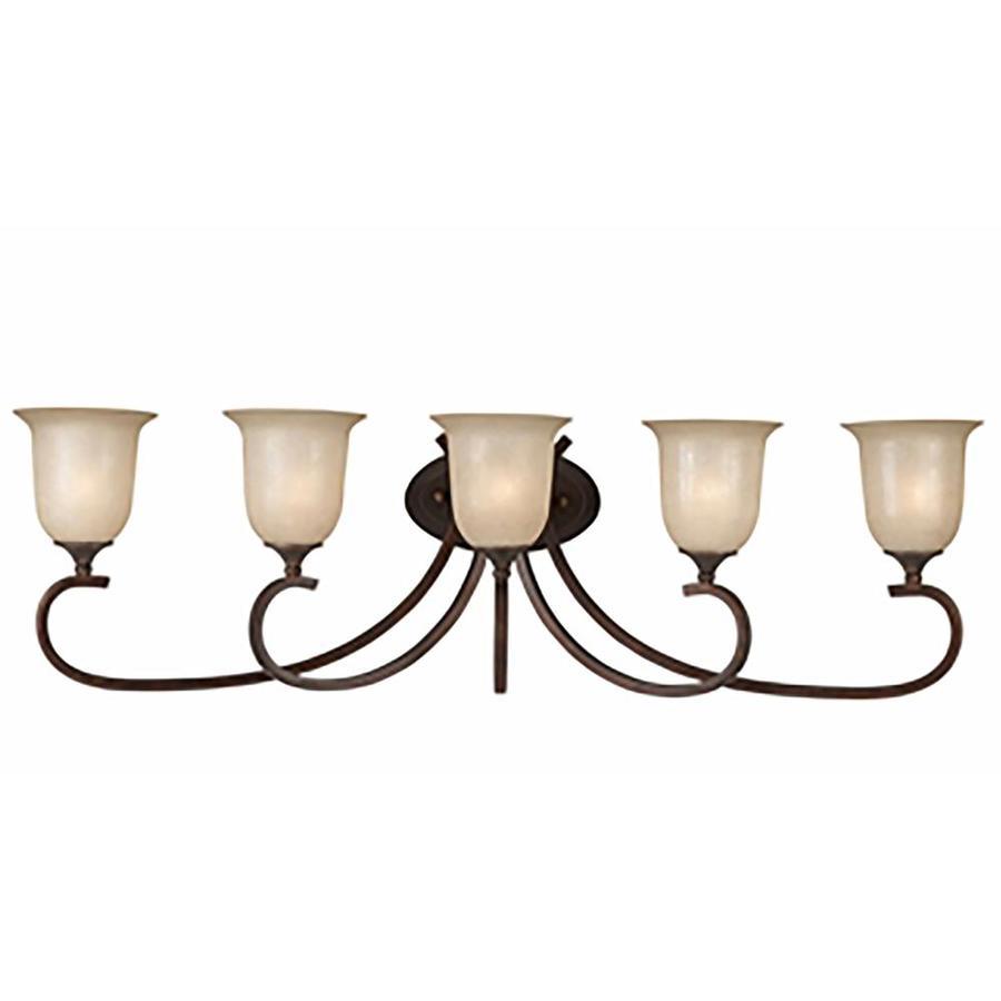 Raissa 5-Light Bronze Vanity Light